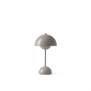 &Tradition Flowerpot VP9 Table Lamp Portable Gray Beige
