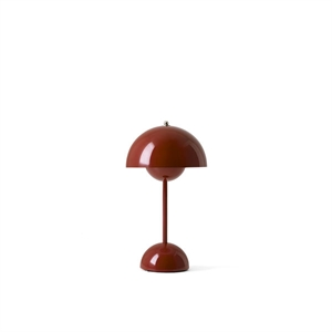 &Tradition Flowerpot VP9 Table Lamp Portable Red Brown