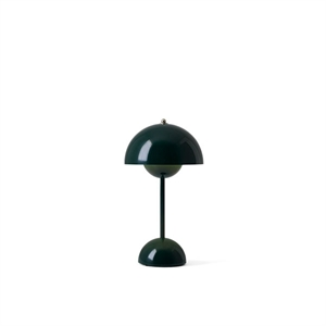 &Tradition Flowerpot VP9 Table Lamp Portable Dark Green
