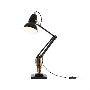 "Anglepoise Original 1227â""¢ Brass Table Lamp Jet Black"