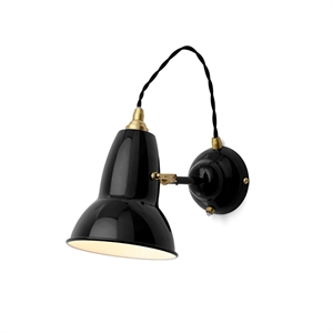 "Anglepoise Original 1227â""¢ Brass Wall Light Jet Black"