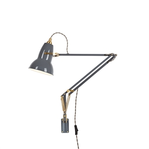 Anglepoise Original 1227? Brass Lamp w/wall Mount Elephant Grey