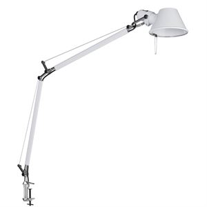 Artemide Tolomeo Table Lamp White with Clip