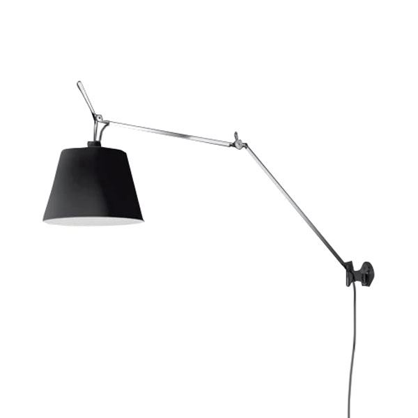 artemide tolomeo mega wall lamp black shade free shipping. Black Bedroom Furniture Sets. Home Design Ideas