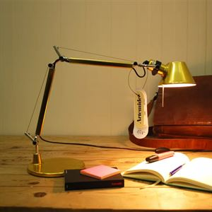 Artemide Tolomeo Micro Table Lamp Gold Limited Edition