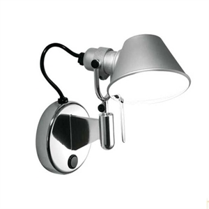 Artemide Tolomeo Micro Faretto Wall Lamp with switch
