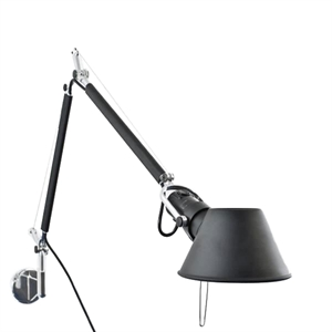 Artemide Tolomeo Mini Wall Lamp Black