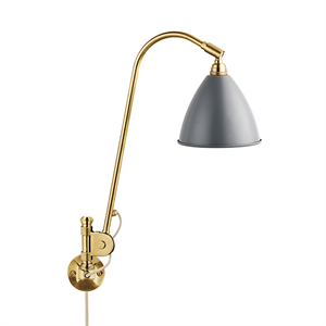 Bestlite BL6 Wall Lamp Grey & Brass