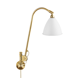 Bestlite BL6 Wall Lamp Mat White & Brass