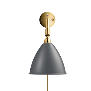 Bestlite BL7 Wall Lamp Grey & Brass