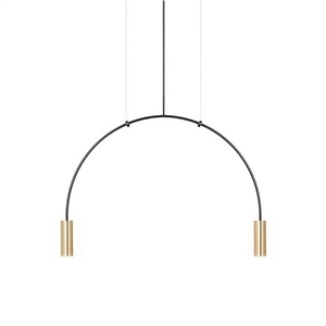 Estiluz Volta Pendant Black & Gold 2 Bulbs