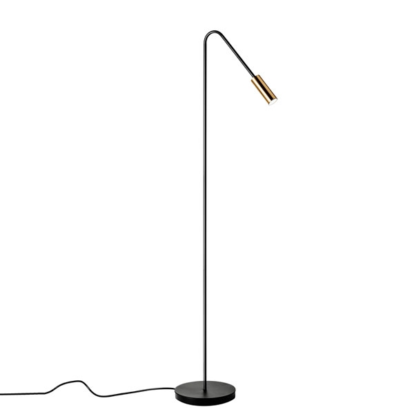 Estiluz Volta Floor Lamp Black Gold