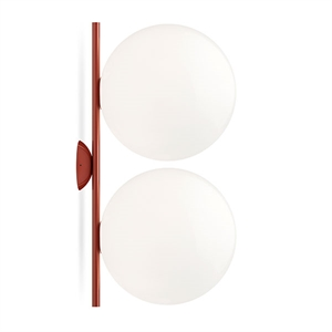 Flos IC C/W2 Double Wall Lamp Red Burgundy