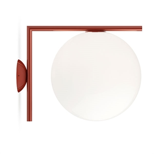 Flos IC C/W2 Wall Lamp Red Burgundy