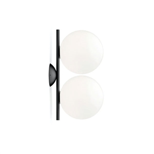 Flos IC C/W1 Double Wall Lamp Black