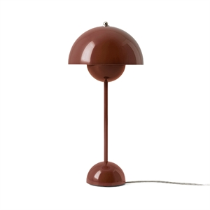 &tradition Flowerpot VP3 Table Lamp Red & Braun