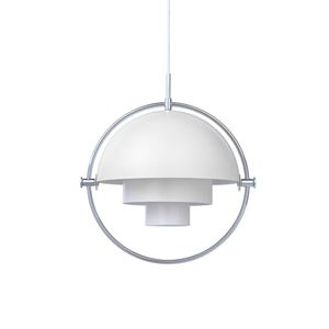 GUBI Multi-Lite Pendant Chrome & White