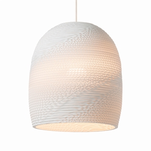 Graypants Scraplight Bell Pendant White