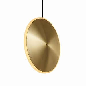 Graypants Chrona Dish 10 Vertical Pendant Brass