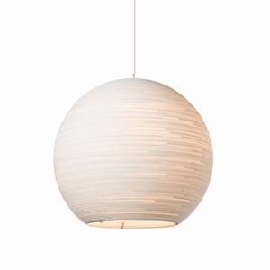 Graypants Scraplight Sun Pendant White