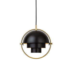 GUBI Multi-Lite Pendant Small Brass & Black