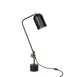 Konsthantverk Knekt Table Lamp - Matt Black & Raw Brass