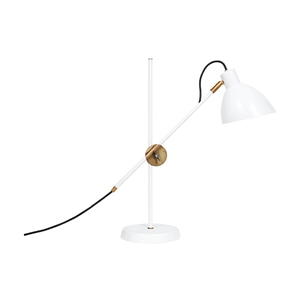 Konsthantverk KH#1  Table Lamp - Raw Brass  & White