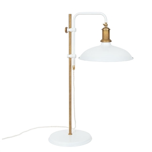 Konsthantverk Kavaljer Table Lamp - Matt White & Raw Brass