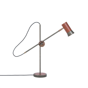 Konsthantverk Kusk Table Lamp - Iron oxide & Leather