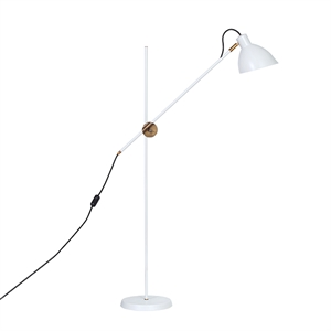 Konsthantverk KH#1 Floor lamp - Raw Brass  & White