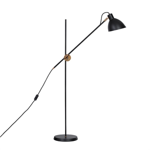 Konsthantverk KH#1 Floor lamp - Raw Brass  & Black
