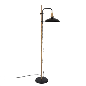 Konsthantverk Kavaljer Floor lamp - Matt Black & Raw Brass