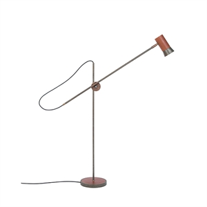 Konsthantverk Kusk Floor lamp - Iron oxide & Leather