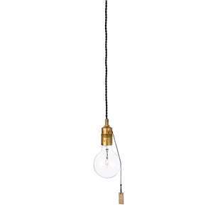 Konsthantverk Singel Pendant - With Cord & Raw Brass
