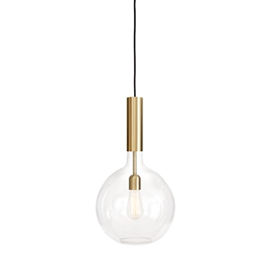 Konsthantverk Rosdala Large Pendant - Clear Glass & Polished Brass