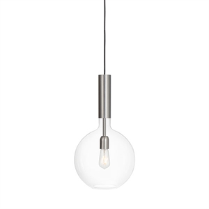Konsthantverk Rosdala Small Pendant - Clear Glass & Raw Iron