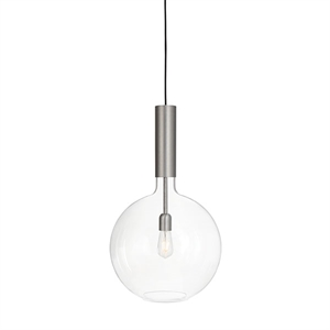 Konsthantverk Rosdala Large Pendant - Clear Glass & Raw Iron