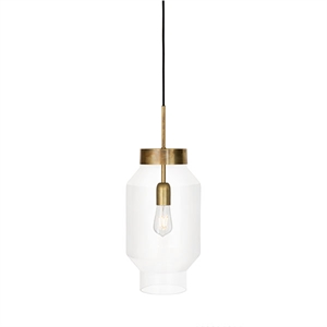 Konsthantverk Fenomen Large Pendant - Clear Glass & Brass