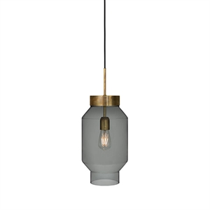Konsthantverk Fenomen Large Pendant - Smoke-coloured Glass & Brass