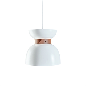 Konsthantverk Liv Pendant - Raw Brass & White Leather