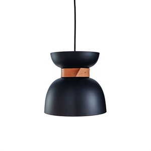 Konsthantverk Liv Pendant - Raw Brass & Black Leather