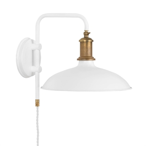 Konsthantverk Kavaljer Wall Light - Matt White & Raw Brass