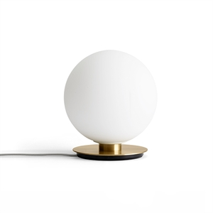 MENU TR Table & Wall Light Brushed Brass with Matt Opal Bulb