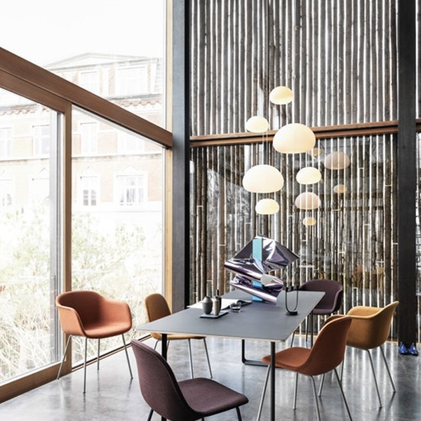 Muuto Fluid Pendant White Lifestyle Conference Room'