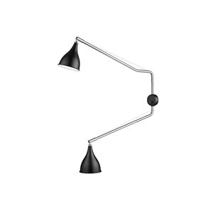 NORR11 Le Six Double Arm Wall Light Black