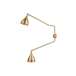 NORR11 Le Six Double Arm Wall Light Brass