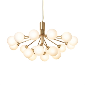 Nuura Apiales 18 Chandelier Brass and Opal Glass