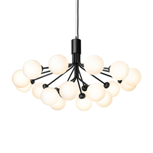 Nuura Apiales 18 Chandelier Black and Opal Glass