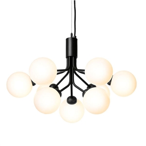 Nuura Apiales 9 Ceiling Light Satin Black/ Opal White