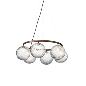 Nuura Miira 6 Circular Chandelier Dark Bronze/ Optic Clear